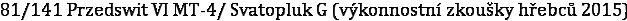 81/141 Przedswit VI MT-4/ Svatopluk G (výkonnostní zkoušky hřebců 2015)