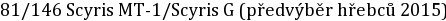 81/146 Scyris MT-1/Scyris G (předvýběr hřebců 2015)