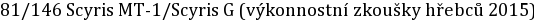 81/146 Scyris MT-1/Scyris G (výkonnostní zkoušky hřebců 2015)