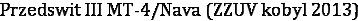 Przedswit III MT-4/Nava (ZZUV kobyl 2013)