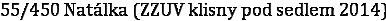55/450 Natálka (ZZUV klisny pod sedlem 2014)