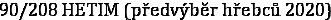 90/208 HETIM (předvýběr hřebců 2020)